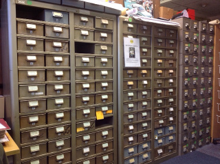 Microfiche drawers